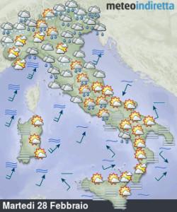 Primavera meteorologica al via: Maltempo a Carnevale, poi breve stabilità! - Carnevale tra sole e piogge. Fonte: meteoindiretta