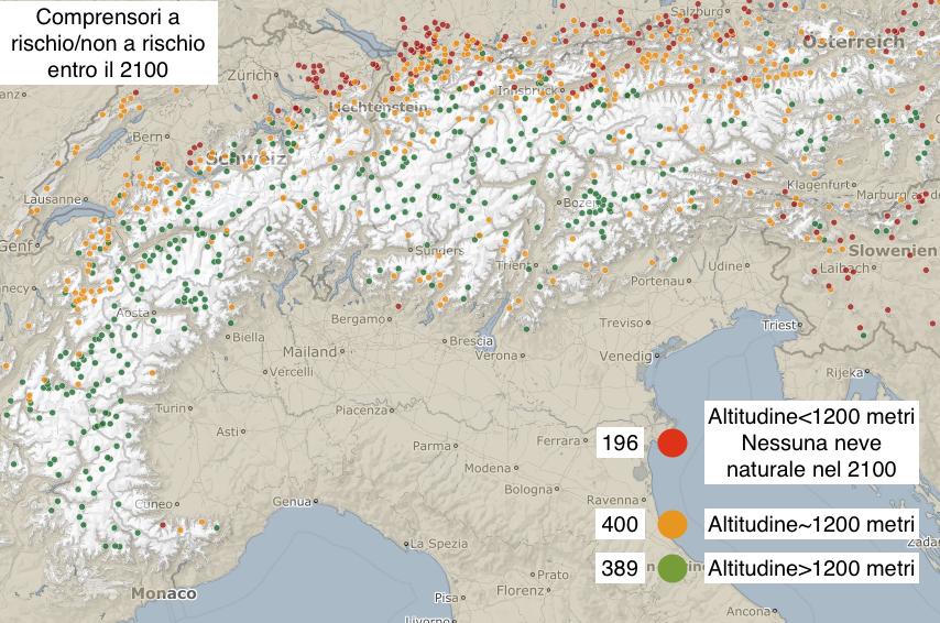 Mappa dei comprensori a rischio