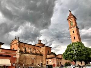 Dettaglio del temporale sviluppatosi l'11 aprile nei pressi di Medicina (BO). Foto di Gianfranco Cavarra