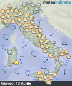 Tempo incerto e instabile: Pasqua e Pasquetta ancora in dubbio! - Migliora soprattutto al nord. Fonte: meteoindiretta