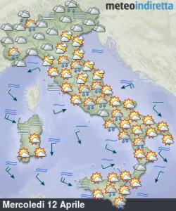 Tempo incerto e instabile: Pasqua e Pasquetta ancora in dubbio! - Settimana pasquale instabile. Fonte: meteoindiretta