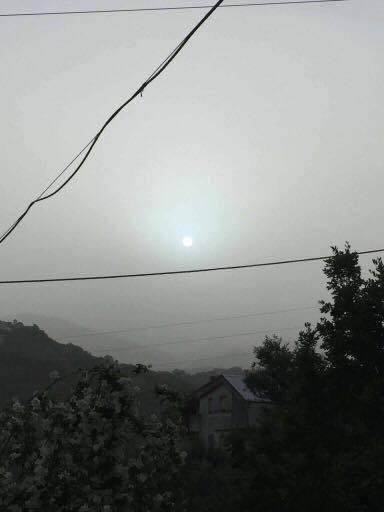 Fotografia scattata in mattinata a Cosenza