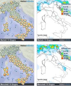 Inizia una Settimana Bollente: l'Anticiclone entra nella fase clou! - Tempo soleggiato in tutta Italia. Fonte: meteoindiretta