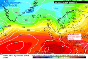 Italia in balia dell'Anticiclone: Settimana boccheggiante, occhio al Weekend! - Settimana ancora con forte Anticiclone. Fonte: meteociel