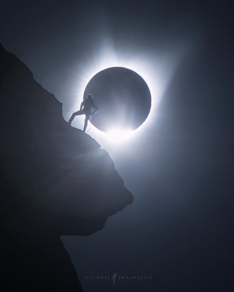 Fotografia dell'eclisse scattata il 21 agosto