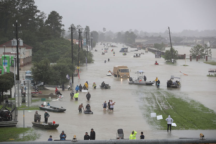Evacuazioni in atto a Houston, Texas (28 agosto)