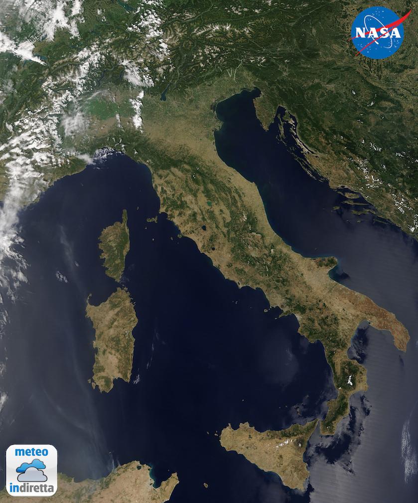 Immagine satellitare del nostro paese acquisita nella giornata del 1 agosto