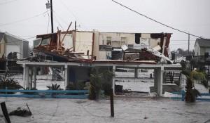Casa danneggiata a Rockport, Texas il 26 agosto