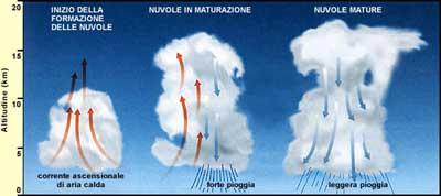Moti convettivi presenti nella formazione delle nubi convettive a sviluppo verticale