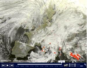 Vortice Artico in azione: Neve, pioggia e aria fredda, l'Italia in pre-inverno! - Tempo da satellita real time. Fonte: sat24