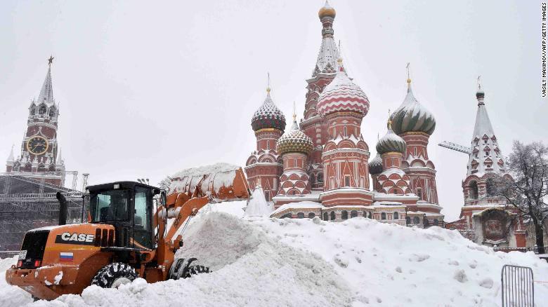 Piazza Rossa, Mosca, 4 Febbraio