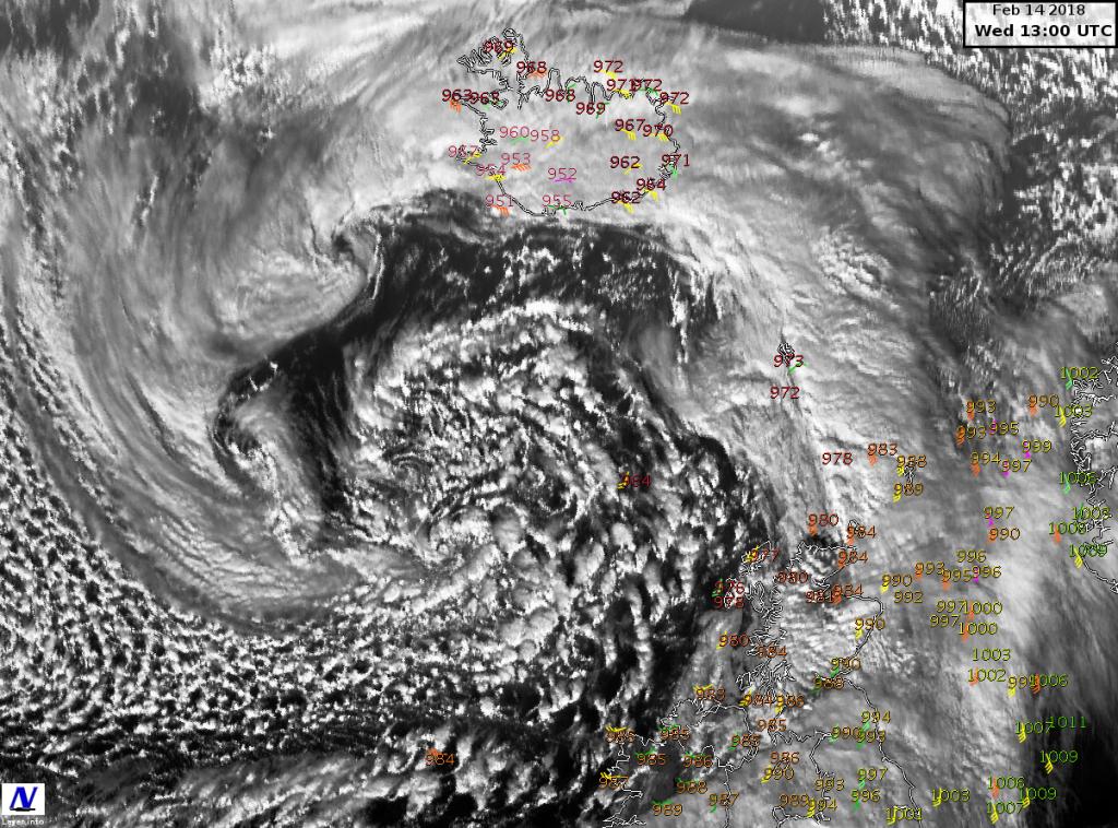 Immagine satellitare in alta risoluzione relativa alle 14 (ora locale italiana) di oggi