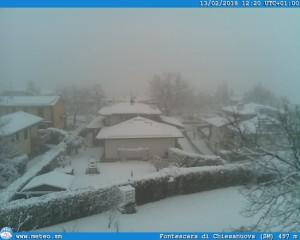 Neve, neve e ancora neve: tanta Neve in Appennino centro-nord [FOTO] - San Marino innevata. Fonte: meteo.sm