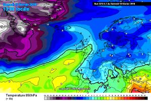 Ondata di Freddo colpisce l'Europa: Neve fino alle Baleari e Ibiza [VIDEO E FOTO] - Masse di aria fredda si spinge fino in Spagna. Fonte: meteociel
