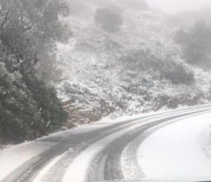 Ondata di Freddo colpisce l'Europa: Neve fino alle Baleari e Ibiza [VIDEO E FOTO] - Neve a Maiorca. Fonte: balearsmeteo