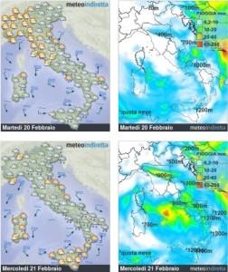 Italia in balia del Freddo e del Maltempo: Piogge, Neve e Nuvole, il Weekend sarà gelo? - Meteo settimana.Fonte: meteoindiretta