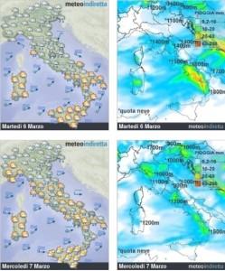 Ripetute ondate di Maltempo non mollano l'Italia: metà Settimana sarà perturbata! - Maltempo fino a metà settimana. Fonte: meteoindiretta