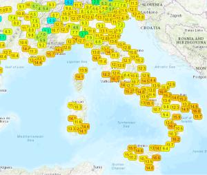 Weekend dal fascino Primaverile: Attenzione le piogge non ci lasceranno, ma dove? - Temperature in aumento. Fonte: meteonetwork