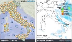 Italia perturbata in Settimana: Maltempo in azione con pioggia e calo termico! - Mercoledì migliora. Fonte: meteoindiretta