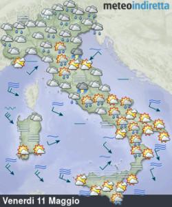 Settimana Temporalesca in arrivo: Acquazzoni e Temporali pomeridiani non mollano l'Italia! - Tempo previsto seconda parte settimana. Fonte: meteoindiretta