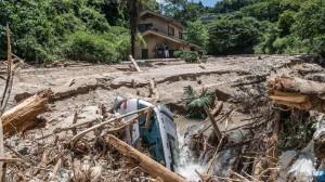 Danni dovuti alle piogge persistenti in Giappone
