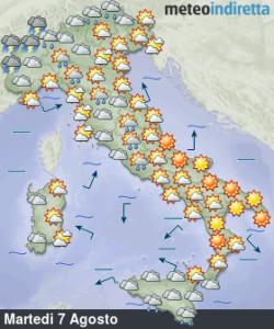 Settimana con sole e nuovo forte caldo, pochi temporali: ferragosto è però a rischio! - Settimana con tempo estivo e pochi temporali . Fonte: meteoindiretta