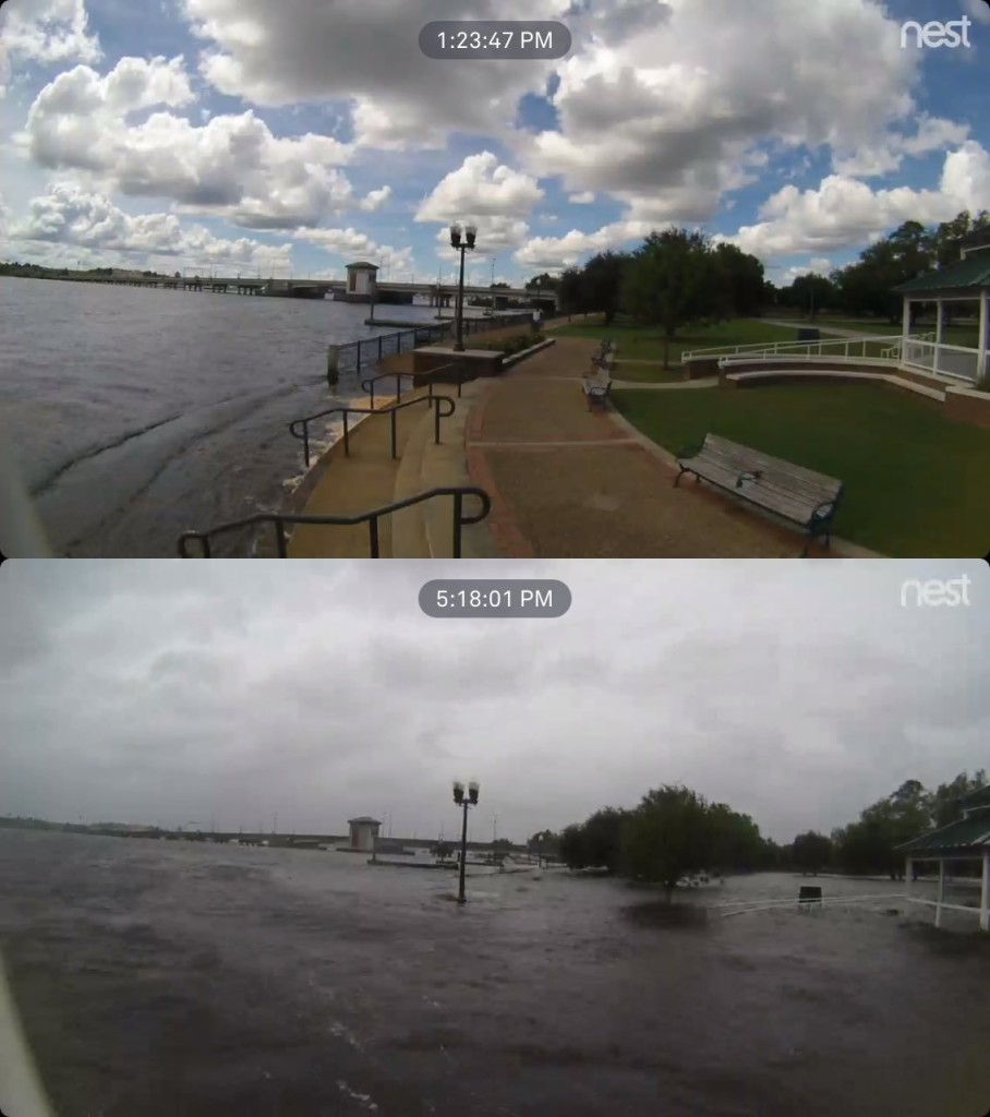 Immagini webcam acquisita ad Union Point, New Bern  (North Carolina) acquisite a poche ore di distana