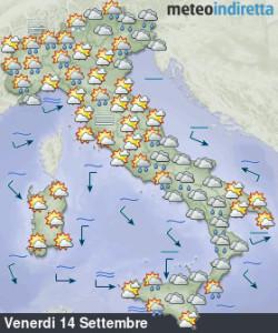Meteo weekend più convincente: sole e caldo torneranno protagonisti fino a quando?- Migliora pian piano il tempo, attenzione ai temporali. Fonte: meteoindiretta