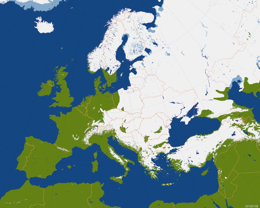 Copertura nevosa in Europa