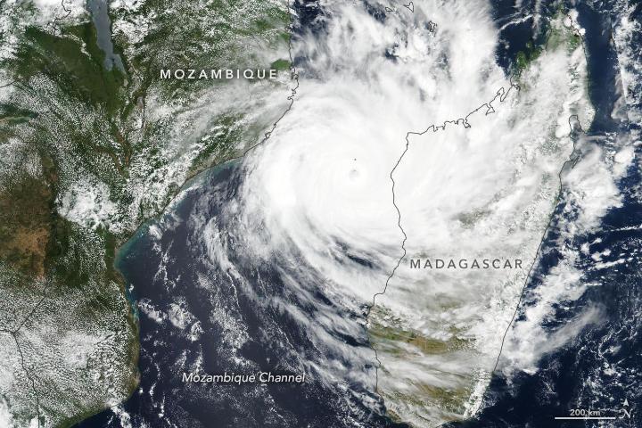 Ciclone tropicale Idai, 11 Marzo. Fonte: NASA
