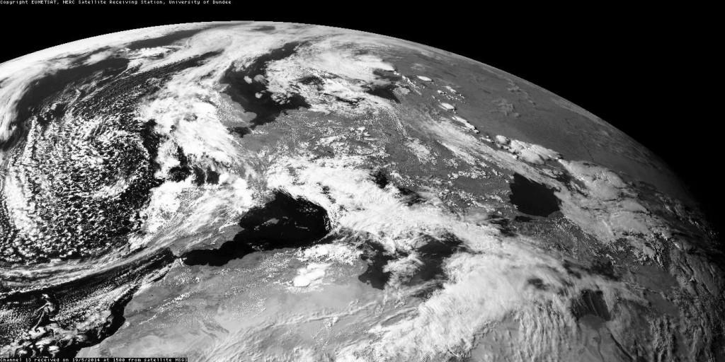 Ultima immagine satellitare del pomeriggio di oggi.