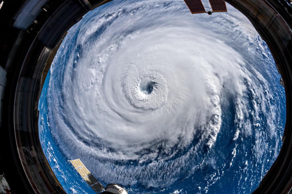 Immagine dell'uragano Florence scattata dalla stazione spaziale internazionale (ISS) lo scorso 13 settembre