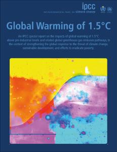 Copertina del report speciale dell'IPCC