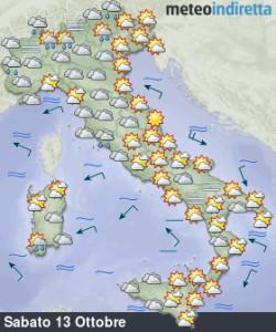 Torna la calma nel weekend: più sole, aria mite e stabilità, ma non durerà molto! - Tempo in miglioramento nel fine settimana. Fonte: meteoindiretta