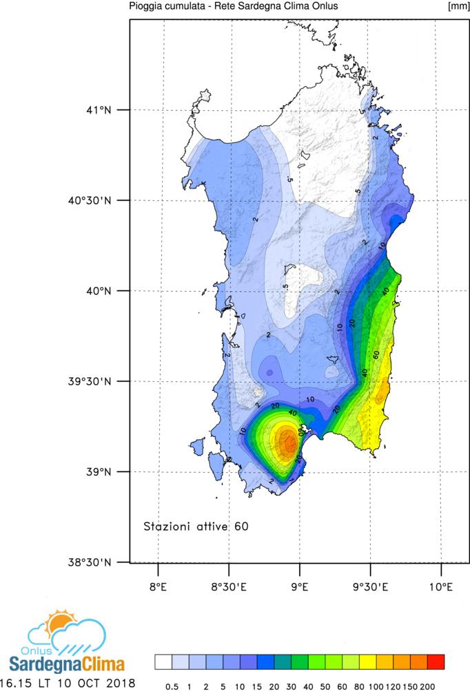 Mappa precipitazioni