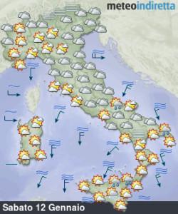 Arriva il Weekend e le temperature risalgono: ma ci sarà sole o maltempo? - Tempo in lento miglioramento ma ancora molto freddo. Fonte: meteoindiretta