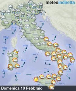 Perturbazione in arrivo nel weekend: aumentano nubi, neve e piogge sparse! - Weekend tra sole e nuova perturbazione. Fonte: meteoindiretta