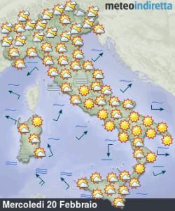 Sole e stabilità dominano la settimana: nel weekend torna il gelo russo? - Bel tempo ad inizio settimana. Fonte: meteoindiretta