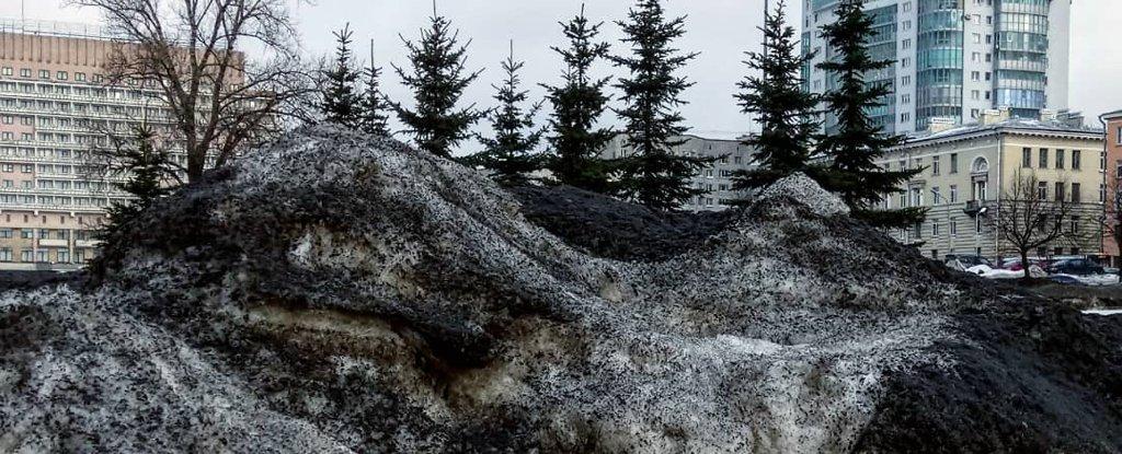 Neve nera ricopre la Siberia