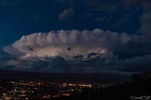 Cella temporalesca. Fonte :Meteo Abruzzo, foto Daniel Straccini