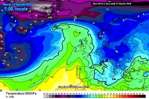Italia divisa tra alta pressione e venti freddi in settimana: tutte le news qui! - Aria fredda in arrivo. Fonte: meteociel