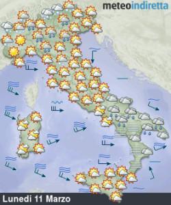 Nuove perturbazioni puntano l'Italia: settimana con sole, vento, piogge e neve! - Settimana turbolenta con freddo, neve e piogge. Fonte: meteoindiretta
