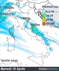 Ultime ore instabili con temporali: in settimana rimonta l'anticiclone! - Piogge previste ad inizio settimana. Fonte: meteoindiretta